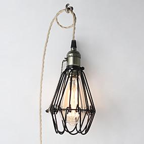 abordables Plafonniers-luminaire suspendu vintage / lampe d'atelier 200inch cordon avec fiche eu ou na et interrupteur marche / arrêt / réglable réglable 110-120v / 220-240v