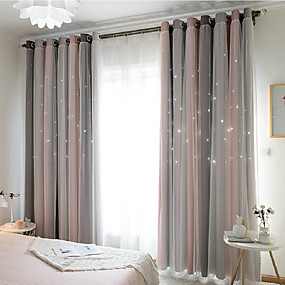 cheap Sale-Contemporary Blackout One Panel Curtain & Sheer Bedroom   Curtains