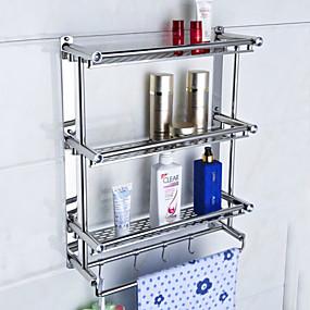 hesapli Banyo Rafları-Banyo Rafı Yaratıcı Çağdaş Metal 1pc - Banyo Duvara Monte Edilmiş