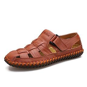 economico Sandali da uomo-Per uomo Scarpe comfort Microfibra Primavera estate Casual Sandali Traspirante Nero / Giallo / Borgogna