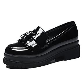 voordelige Damesinstappers & loafers-Dames Loafers & Slip-Ons Blokhak Kwastje Synthetisch Zoet / minimalisme Lente & Herfst / Zomer Zwart / Wijn