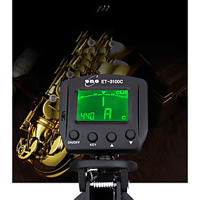 abordables Accessoires d'Instrument-couleur arbre clip de rétro-éclairage tuner pour seulement chromatique
