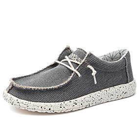 baratos Tênis Masculino-Homens Sapatos Confortáveis Lona Primavera Verão Casual Tênis Respirável Amêndoa / Azul / Cinzento