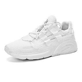 baratos Sapatos Esportivos Femininos-Mulheres Tênis Salto Baixo Ponta Redonda Com Transparência Casual Ciclismo / Caminhada Verão Branco / Preto