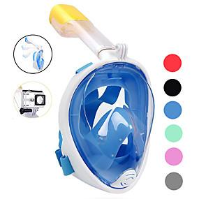 billige Udsalg-Dykning Masker Helmaske Enkelt Vindue - Svømning Silikone - Til Voksen Blå / 180 grader / Lækagesikker / Anti-Tåge