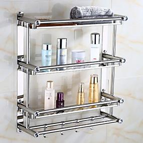 hesapli Banyo Rafları-Banyo Rafı Yaratıcı Çağdaş Paslanmaz Çelik 1pc - Banyo Duvara Monte Edilmiş