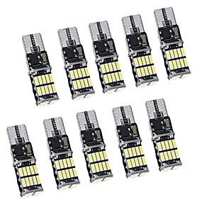 povoljno Svjetla bočnih markera-10pcs canbus w5w t10 vodio 4014 26smd 168 t10 vodio žarulje za parkiranje automobila pozicija svjetlainterijer kupola svjetla 12v bijela