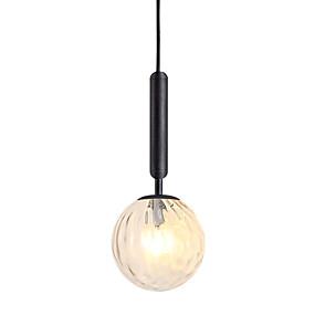 abordables Plafonniers-Globe Lampe suspendue Lumière d'ambiance Plaqué Métal Verre 110-120V / 220-240V