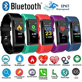 cheap Specials & Offers-ID115 PLUS Color Screen Smart Bracelet Sports Pedometer Watch Fitness Running Walking Tracker Heart Rate Pedometer Smart Band