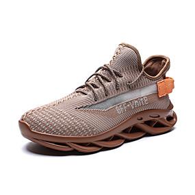 baratos Sapatos Esportivos Masculinos-Homens Sapatos Confortáveis Com Transparência Outono / Primavera Verão Casual Tênis Corrida / Caminhada Respirável Cinzento / Marron / Verde Claro