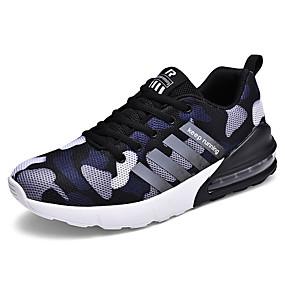baratos Sapatos Esportivos Masculinos-Homens Sapatos Confortáveis Com Transparência Primavera / Outono Esportivo / Casual Tênis Corrida Respirável Côr Camuflagem Verde / Azul