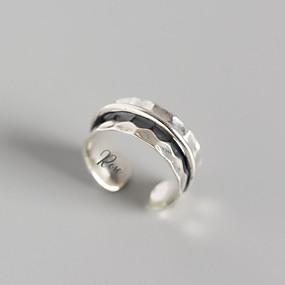 povoljno Gravirani prstenovi-personalizirana Klasičan Graviranog Prsten pomodan Romantični Casual / sportski S925 Sterling Silver Dar Obećanje Festival 1pcs Pink / Lasersko graviranje