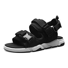 baratos Sandálias Masculinas-Homens Sapatos Confortáveis Com Transparência / Tecido elástico Verão Casual Sandálias Não escorregar Preto / Cinzento