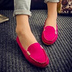 olcso Női topánkák és vászoncipők-Női Papucsok & Balerinacipők Lapos PU Tavaszi nyár Sárga / Fukszia / Zöld