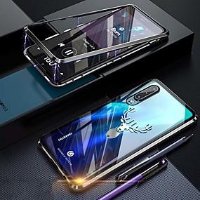halpa Puhelimen kuoret-Etui Käyttötarkoitus Huawei Huawei P30 Pro Iskunkestävä / Pölynkestävä / Läpinäkyvä Suojakuori Läpinäkyvä Kova Karkaistu lasi