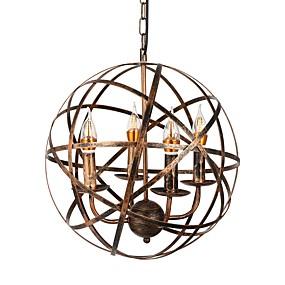 billige Hengelamper-rustikk anheng lysarmatur industriell anheng lys justerbar hengende belysning globus anheng lamper lantern anheng lys omgivende lys malt ferdig