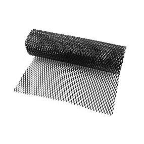 voordelige Auto frontgrille decoratie-auto zilver / zwart aluminium voorbumper ruitmotief mesh (8x16mm)