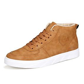 abordables Botas de Hombre-Hombre Zapatos Confort Tela Otoño invierno Botas Botines / Hasta el Tobillo Negro / Gris / Caqui / Oficina y carrera / Fashion Boots