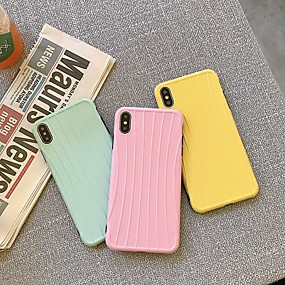 cheap Cool & Fashion Cases for iPhone-Case For Apple iPhone XS / iPhone XR / iPhone XS Max Shockproof / Pattern Back Cover Solid Colored TPU
