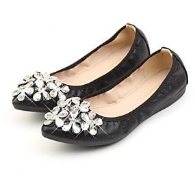 voordelige Damesinstappers & loafers-Dames Loafers & Slip-Ons Lage hak Ronde Teen PU Lente Goud / Zwart / Zilver