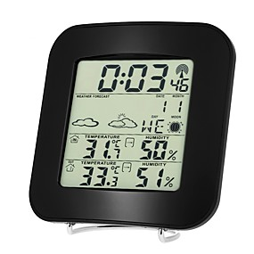 voordelige Super Korting-ts-73 draadloze barometer binnen- en buitenthermometer en hygrometer klokthermometer en hygrometer