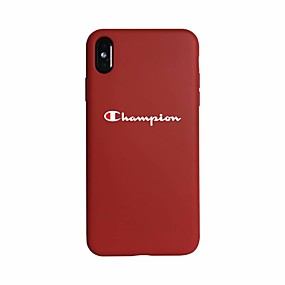 cheap Cool & Fashion Cases for iPhone-Case For Apple iPhone XS / iPhone XR / iPhone XS Max Glow in the Dark / Ultra-thin Back Cover Word / Phrase Soft Silica Gel
