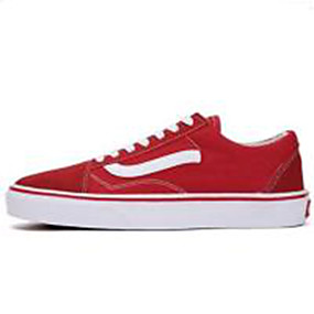 voordelige Damessneakers-Dames Sneakers Platte hak Canvas Lente Roze en Wit / zwart / wit / Rood