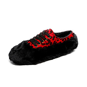 voordelige Damesinstappers & loafers-Dames Loafers & Slip-Ons Platte hak Imitatiebont Herfst winter Oranje / Beige / Rood