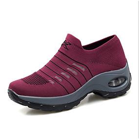 voordelige Damessneakers-Dames Sneakers Platte hak Ronde Teen Polyester Lente Grijs / Paars / Rood