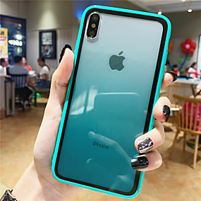 cheap Cool & Fashion Cases for iPhone-Case For Apple iPhone XS / iPhone XR / iPhone XS Max Pattern Back Cover Color Gradient Tempered Glass