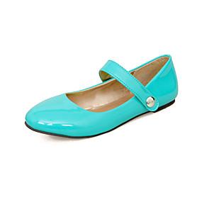 voordelige Damesschoenen met platte hak-Dames Platte schoenen Platte hak Ronde Teen PU Informeel / minimalisme Lente & Herfst Rood / Groen / Amandel