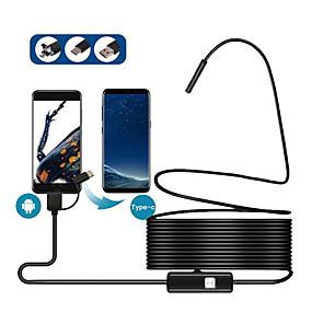 povoljno CCTV kamere-8mm 3in1 tip-c usb android mobilni telefon endoskop 2 metra 5 metara 2 milijuna mobitel endoskop instrument meka linija 2 metra