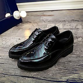 baratos Oxfords Masculinos-Homens Sapatos Confortáveis Couro Ecológico Verão Casual Oxfords Não escorregar Preto / Verde / Vermelho