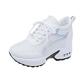 baratos Sapatos Esportivos Femininos-Mulheres Tênis Salto Plataforma Com Transparência Fitness Primavera & Outono Branco / Preto