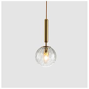 billige Hengelamper-Globe Anheng Lys Omgivelseslys galvanisert Malte Finishes Metall Glass 110-120V / 220-240V