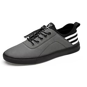 povoljno Muške tenisice-Muškarci Udobne cipele PU Ljeto Sneakers Crn / Sive boje