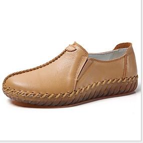 voordelige Damesschoenen met platte hak-Dames Platte schoenen Platte hak Ronde Teen Lakleer Herfst Zwart / Wit / Bruin