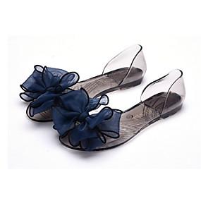 voordelige Damesschoenen met platte hak-Dames Platte schoenen Platte hak Strik PVC Lente zomer Roze / Lichtblauw / Amandel