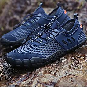 baratos Sapatos Esportivos Masculinos-Homens Sapatos Confortáveis Couro Ecológico Verão Tênis Aventura Azul Escuro / Cinzento / Amarelo