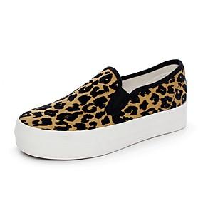 voordelige Damesinstappers & loafers-Dames Loafers & Slip-Ons Creepers Canvas Lente Luipaard