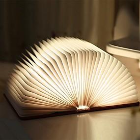 billige Hjem & Hage-1pc Bok Table Night Lamp Innebygd Li-batteridrevet Foldbar / Oppladbar / Magnetisk