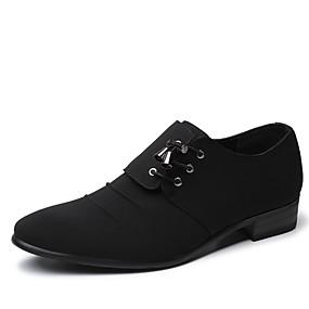 Χαμηλού Κόστους Αντρικά Oxford-Ανδρικά Παπούτσια άνεσης Πανί Άνοιξη / Φθινόπωρο Oxfords Αναπνέει Μαύρο