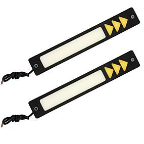 billige 70%OFF-2stk / sett bil drl blinklys lys kjørelys auto dagslys hvit sving gul superlys bil dagtid led lys bil styling