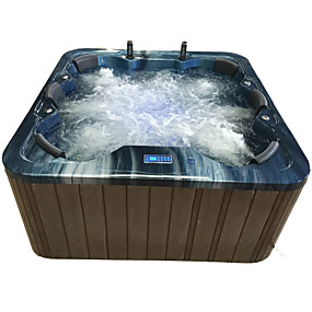 cheap Bathtub-Outdoor spa tub whirlpool Massage bathtubs 6 people Freestanding Jacuzzi