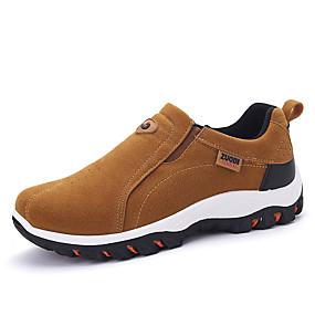 baratos Sapatilhas e Mocassins Masculinos-Homens Sapatos Confortáveis Couro Ecológico Outono Casual Mocassins e Slip-Ons Não escorregar Preto / Cinzento / Khaki