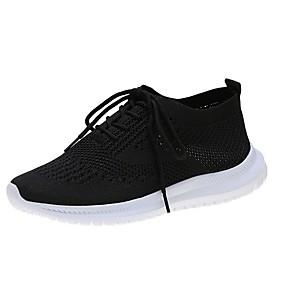 baratos Sapatos Esportivos Femininos-Mulheres Tênis Sem Salto Ponta Redonda Com Transparência Corrida Verão Preto / Branco / Cinzento