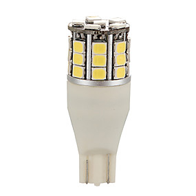 billige Nyankomne i august-2stk 12-24v t15 w16w bil lyslys LED-lampe indikatorpærer 2835 30smd baklykt modellst15