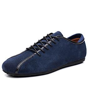baratos Oxfords Masculinos-Homens Sapatos de couro Couro Ecológico Verão Oxfords Preto / Azul / Azul Escuro