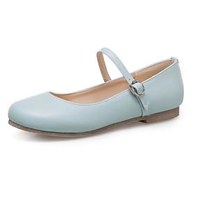 voordelige Damesschoenen met platte hak-Dames Platte schoenen Platte hak Ronde Teen PU Studentikoos Lente zomer Zwart / Wit / Rood