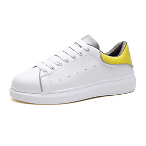baratos Tênis Masculino-Homens Sapatos Confortáveis Couro Sintético Primavera / Outono Casual Tênis Caminhada Respirável Branco e Preto / Branco e Verde / Branco / Amarelo